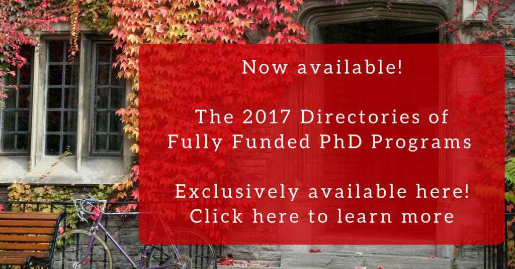 Directories of Fully Funded Phd Programs