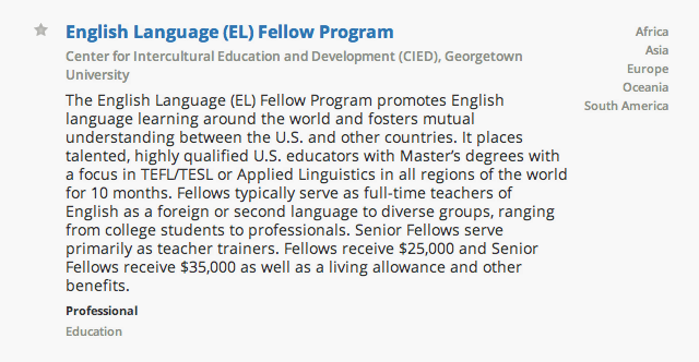 Fellowship Description Example