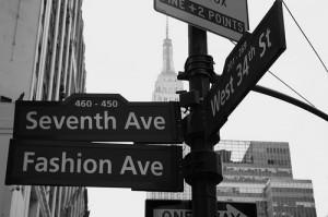Fashion Avenue in NYC