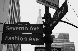 Fashion Avenue in NYC
