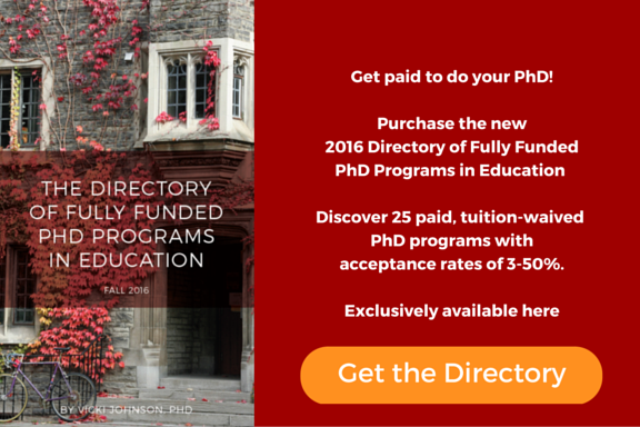 Directory of Fully Funded PhD Programs in Education