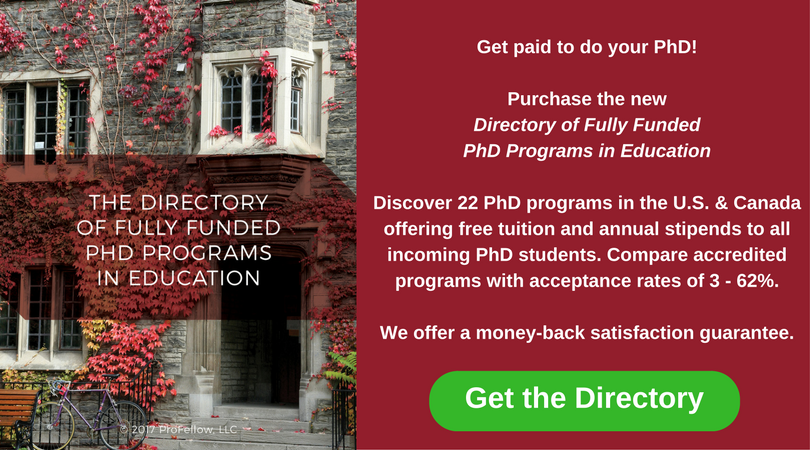 The Directory of Fully Funded PhD Programs in Education