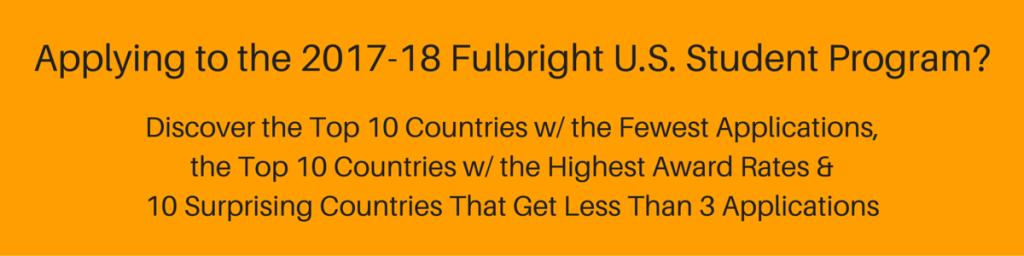 Ad Fulbright U.S. Student Grant Statistics