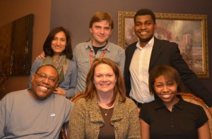 Kavena Hambira, 2012-13 Fulbright Scholar with his colleagues in Atlanta
