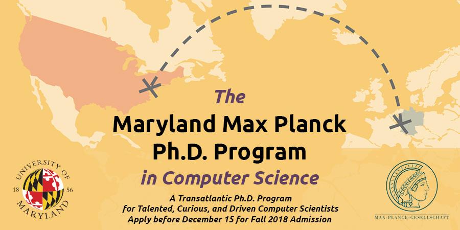 University of Maryland Max Planck PhD Program