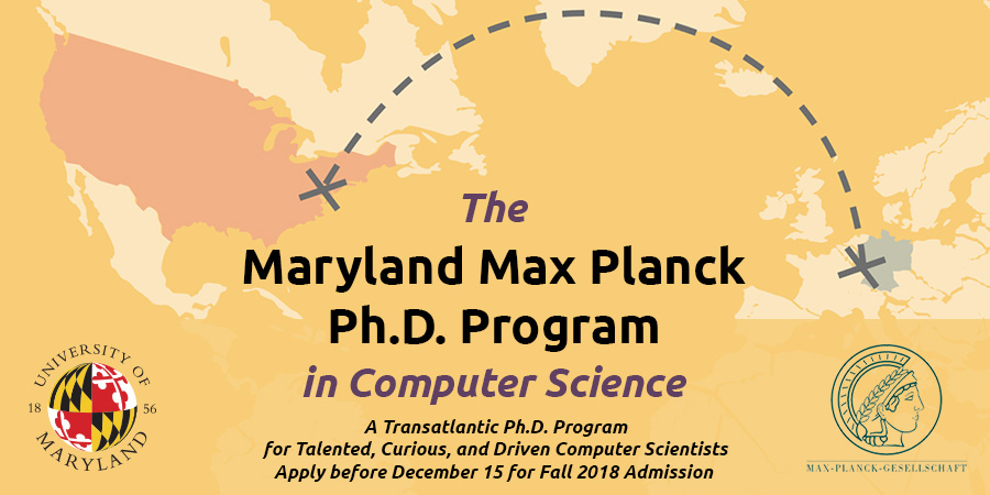 University of Maryland Max Planck PhD Program