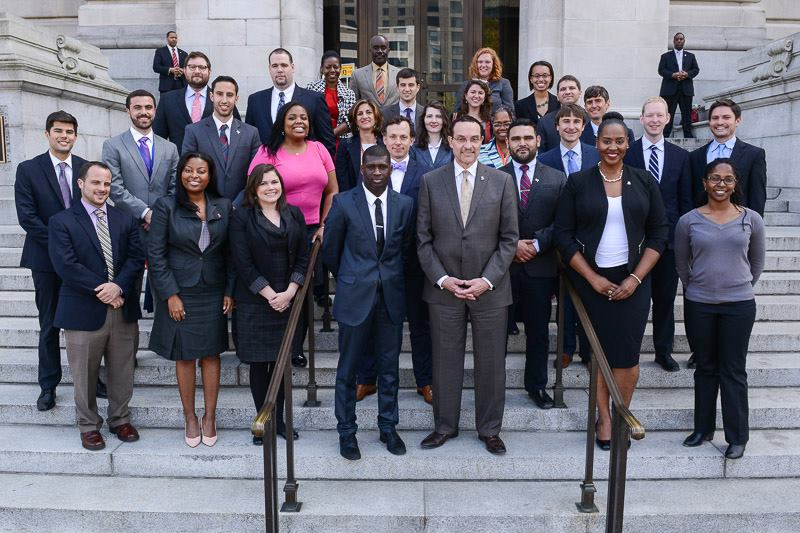 The 2014 Capital City Fellows with Mayor Vincent Gray