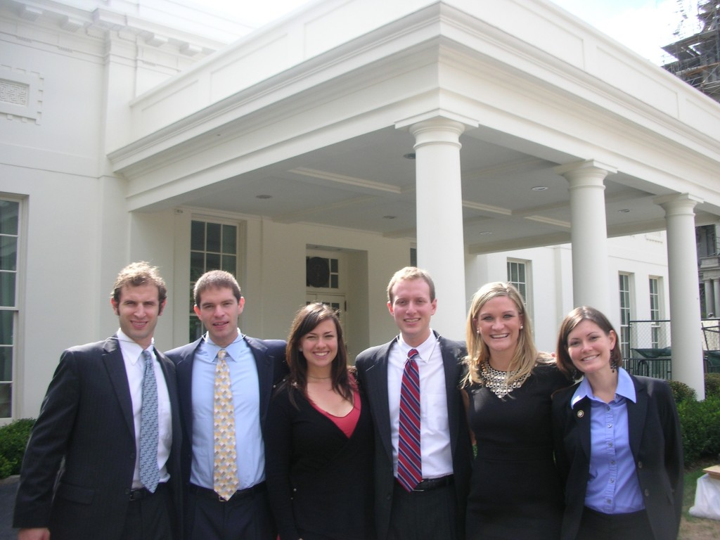 AmeriCorps members visiting the White House
