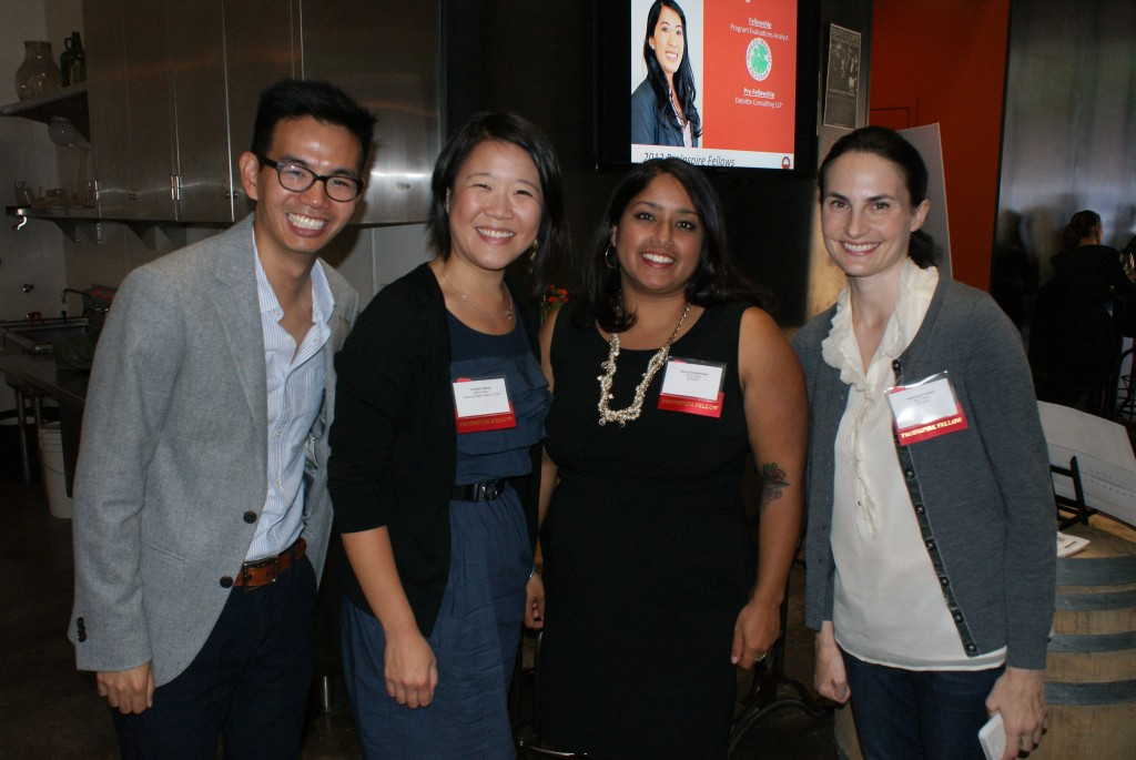 ProInspire Fellows Andrew Wu, Sherry Ezhuthachan and Adrienne Gvozdich
