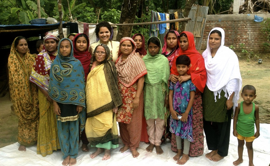 Roushani with women from a legal awareness class outside of Dhaka, Bangladesh