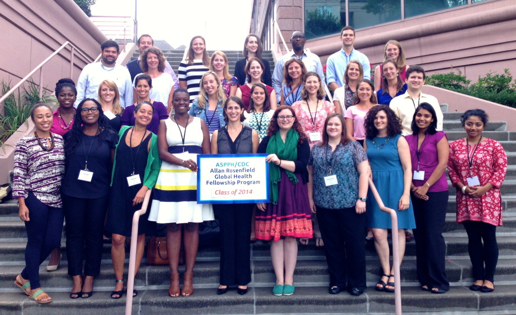 Megan Casebolt (green scarf) with the Class of 2014 ASPPH/CDC Allan Rosenfield Global Health Fellows (photo credit: ASPPH)
