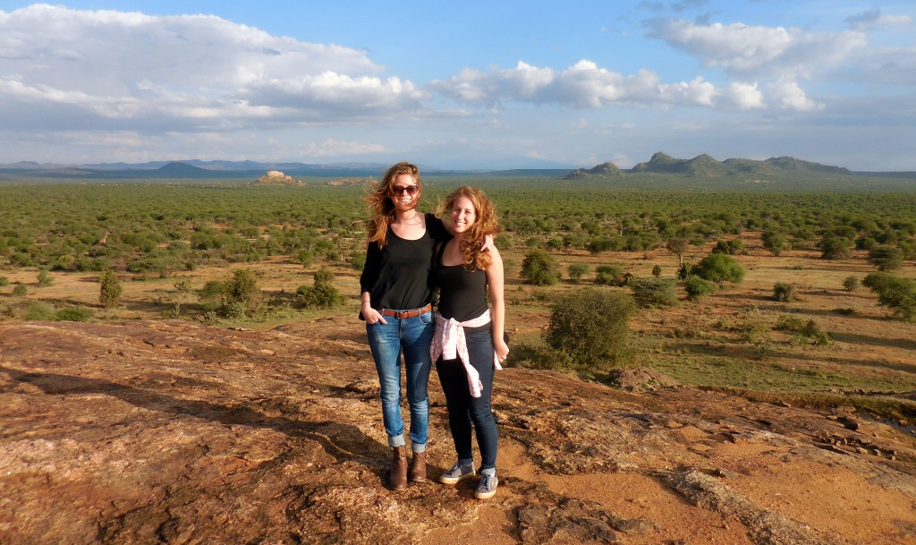 Eva (right) and a friend in Kenya
