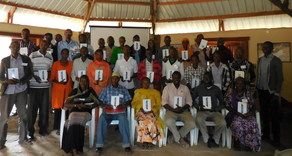The BOMA Project receive new tablets, in order to field staff received tablets to help transition their data collection from paper-based to digital