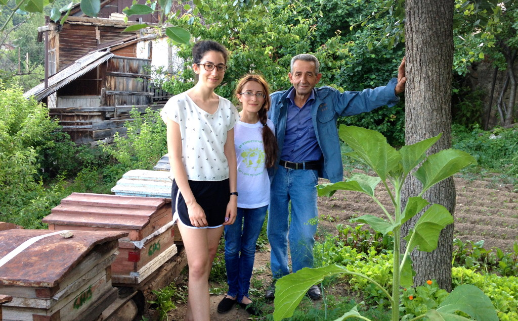 Davis Projects for Peace Fellow Lia Soorenian (left) in Armenia