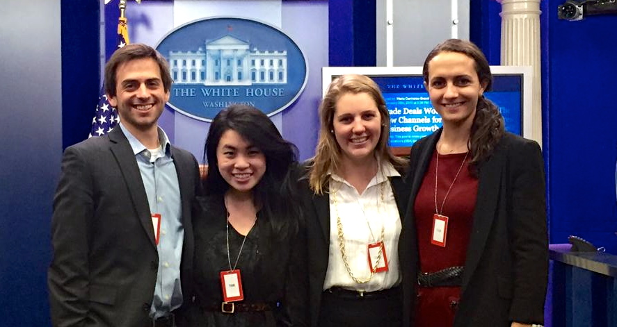 The 2014-15 Health for America Fellows at the White House