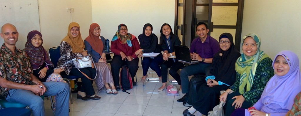Fabio de Oliveira Coelho (far left) with his students in Indonesia