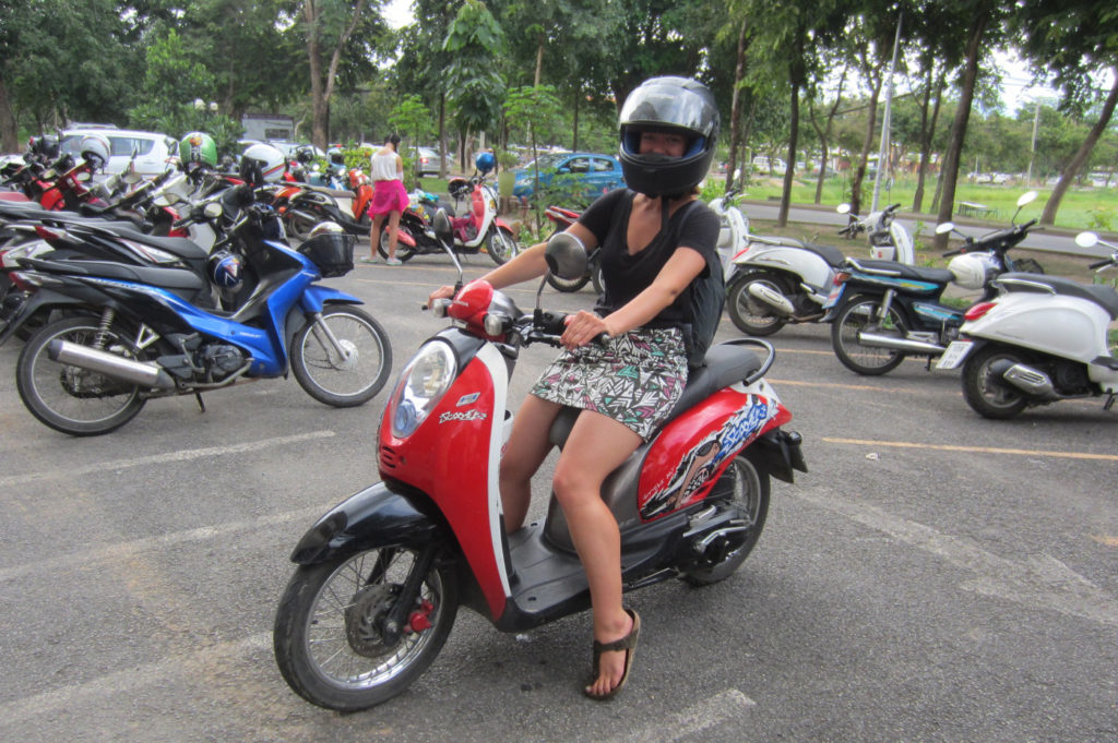 Luce Scholarship Riding a Moto in Thailand