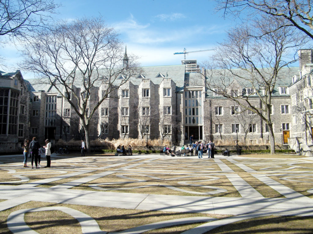 Courtyard of Trinity College at University of Toronto