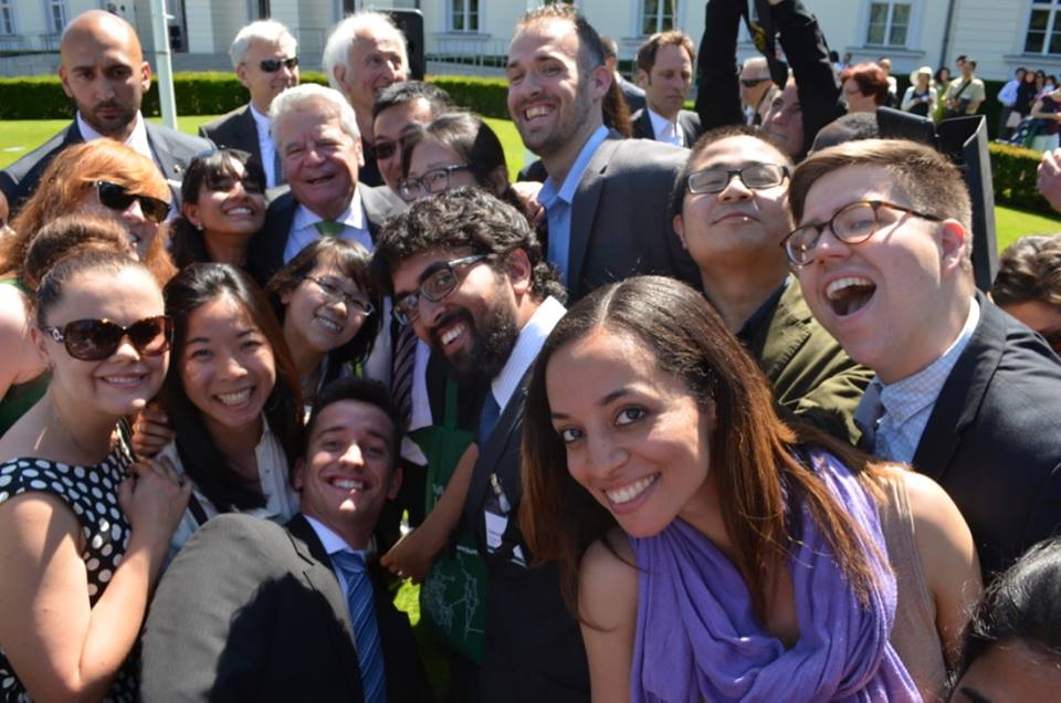 German Chancellor Fellows with German President Joachim Gauck