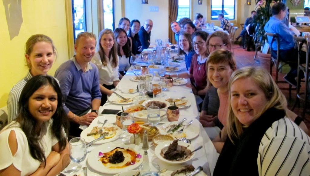International Fellows Network dinner