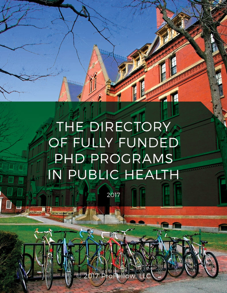 The 2017 Directory of Fully Funded PhD Programs in Public Health