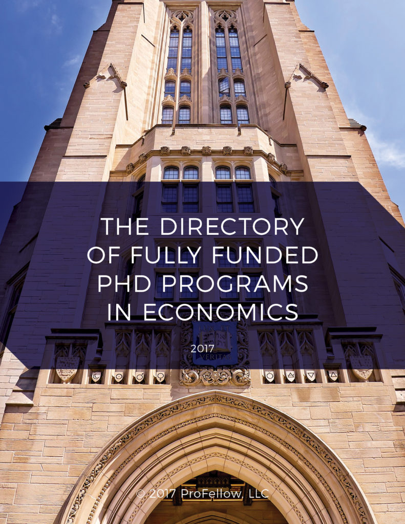 The 2017 Directory of Fully Funded PhD Programs in Economics