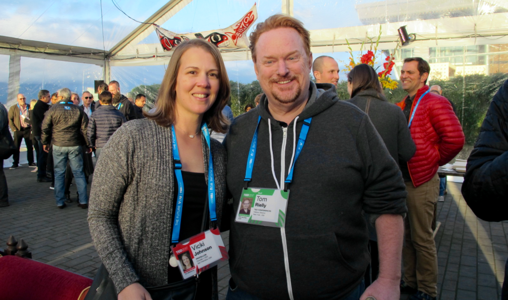 Vicki with TED Fellows Director Tom Rielly
