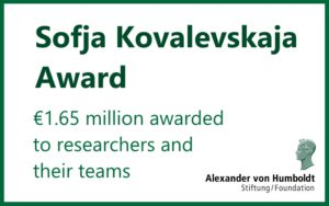 Call for Applications: Sofja Kovalevskaja Award in Germany