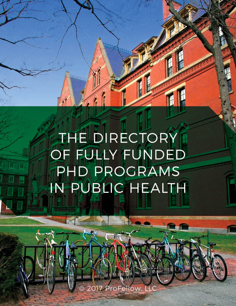 The Directory of Fully Funded PhD Programs in Public Health