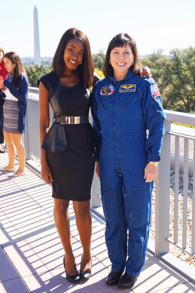 With Dr. Mary Ellen Weber, a consultant for STELLAR Strategies, LLC and a retired NASA astronaut