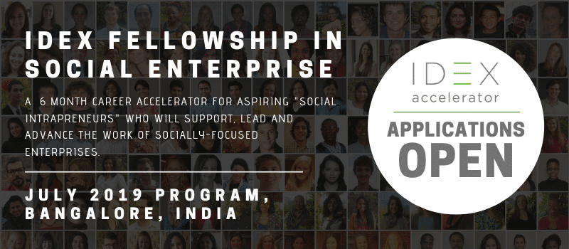 Seeking Young Professionals and Entrepreneurs for the IDEX Fellowship in Bangalore, India